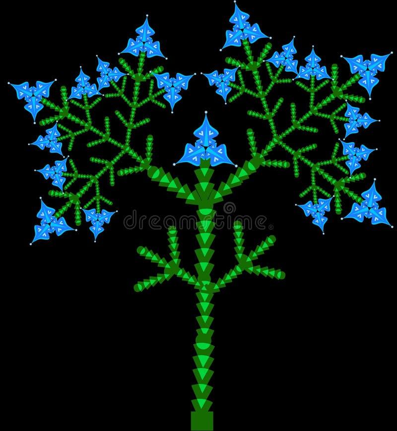 Διάνυσμα δέντρων ανθίσματος στοκ εικόνα με δικαίωμα ελεύθερης χρήσης