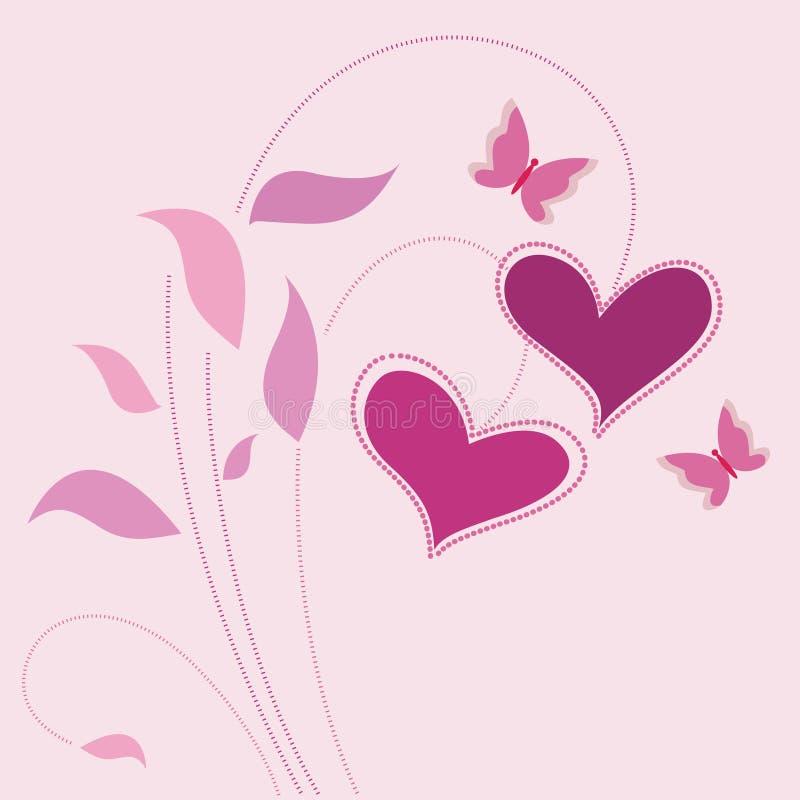 διάνυσμα αγάπης ανασκόπησ&e ελεύθερη απεικόνιση δικαιώματος