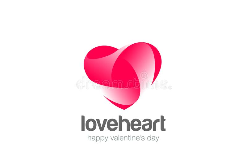 Διάνυσμα αγάπης λογότυπων καρδιών Καρδιολογία ιατρική Valent ελεύθερη απεικόνιση δικαιώματος