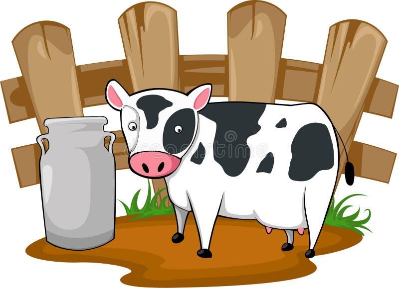 Διάνυσμα αγελάδων κινούμενων σχεδίων απεικόνισης στοκ φωτογραφία