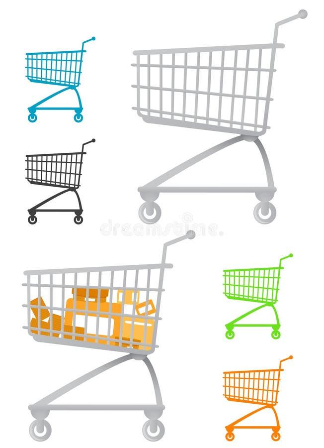 διάνυσμα αγορών διαγραμμάτων απεικόνιση αποθεμάτων