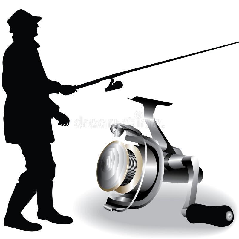 διάνυσμα αλιείας απεικόνιση αποθεμάτων