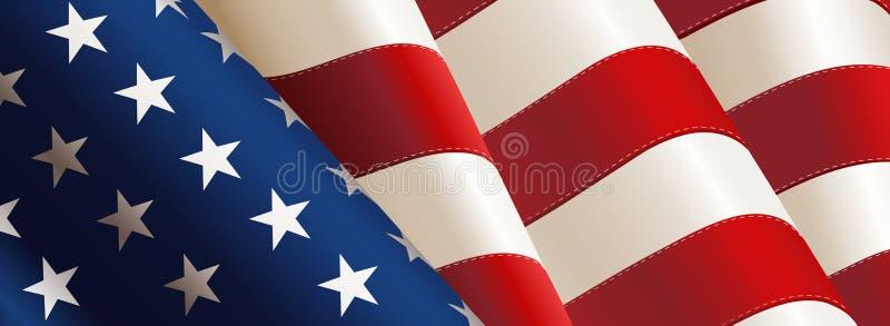 Διάνυσμα αμερικανικών σημαιών ελεύθερη απεικόνιση δικαιώματος