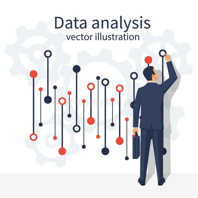 Διάνυσμα ανάλυσης στοιχείων διανυσματική απεικόνιση