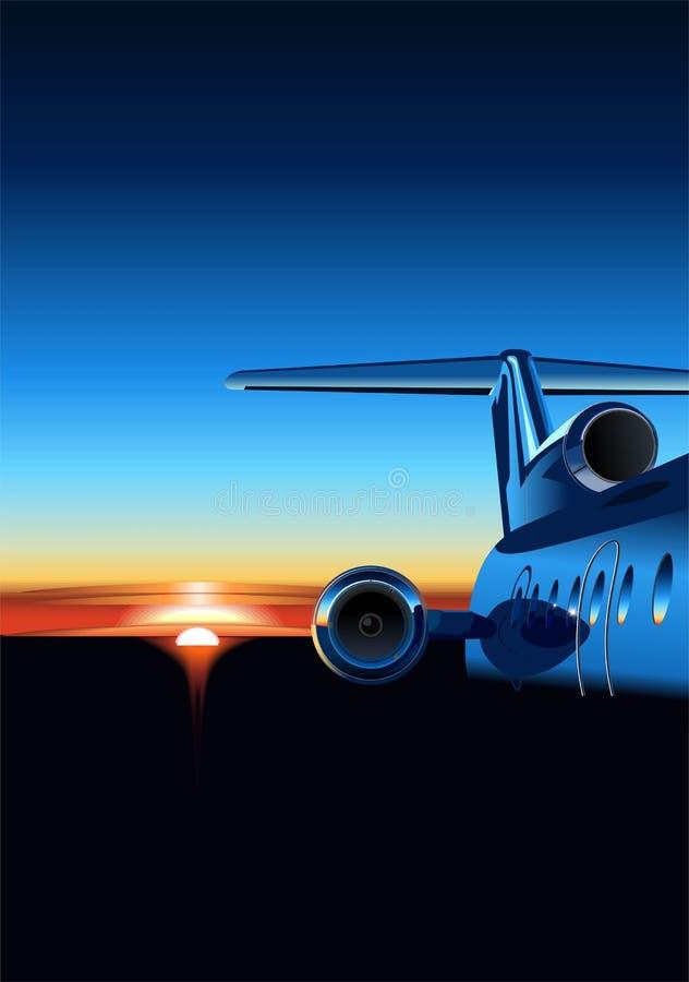 διάνυσμα ανατολής αεροπλάνων διανυσματική απεικόνιση