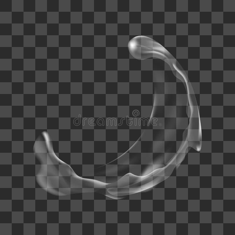 Διάνυσμα απεικόνισης ενός ρεαλιστικού διαφανούς ραντίσματος νερού στοκ φωτογραφία με δικαίωμα ελεύθερης χρήσης