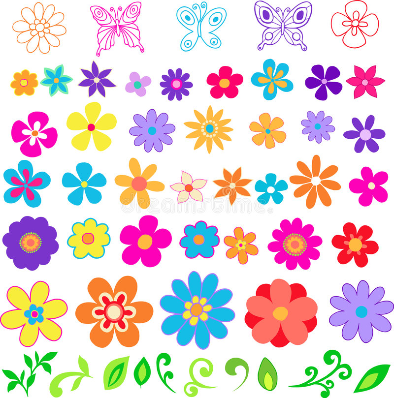 διάνυσμα απεικόνισης λουλουδιών διανυσματική απεικόνιση
