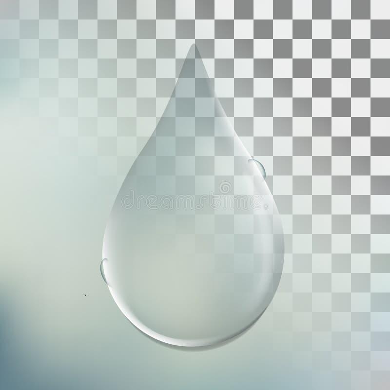 Διάνυσμα απεικόνισης μιας ρεαλιστικής διαφανούς άσπρης πτώσης ο νερού στοκ εικόνα με δικαίωμα ελεύθερης χρήσης