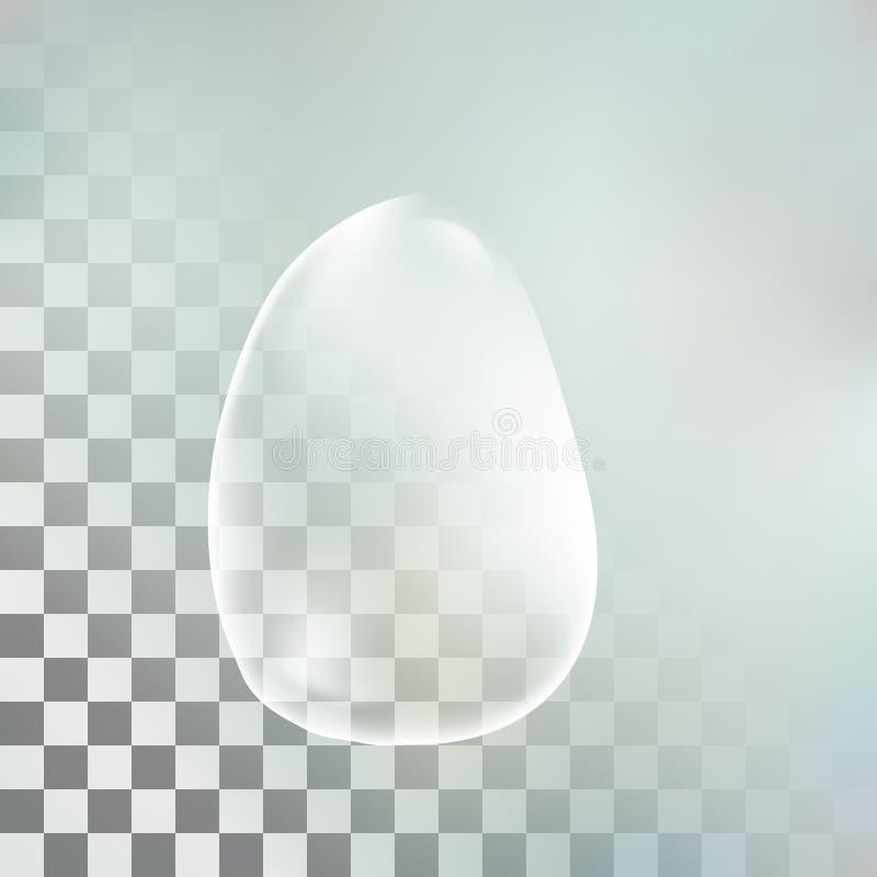 Διάνυσμα απεικόνισης μιας ρεαλιστικής διαφανούς πτώσης νερού στοκ φωτογραφίες