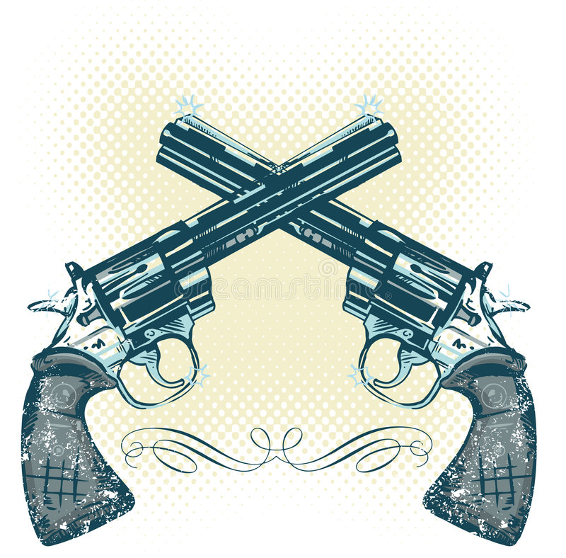 διάνυσμα απεικόνισης χεριών πυροβόλων όπλων απεικόνιση αποθεμάτων