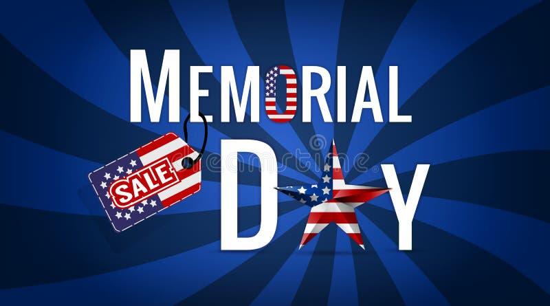 Διάνυσμα απεικόνισης EPS10 πώλησης ημέρας μνήμης στοκ φωτογραφία με δικαίωμα ελεύθερης χρήσης