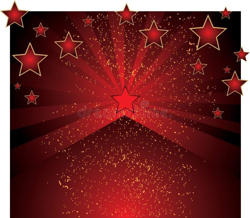 διάνυσμα αστεριών ανασκόπ&e ελεύθερη απεικόνιση δικαιώματος