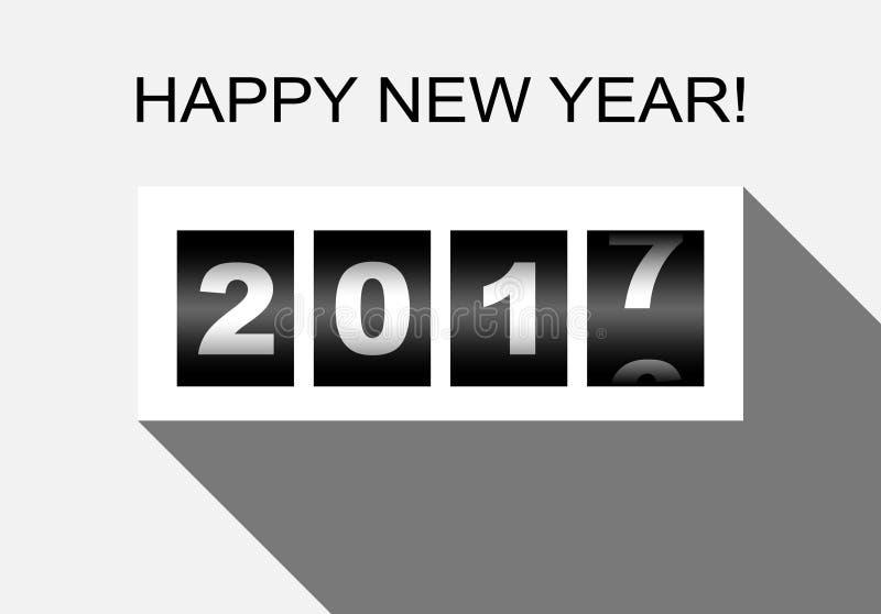 Διάνυσμα αφισών σχεδίου καλής χρονιάς 2017 επίπεδο απεικόνιση αποθεμάτων