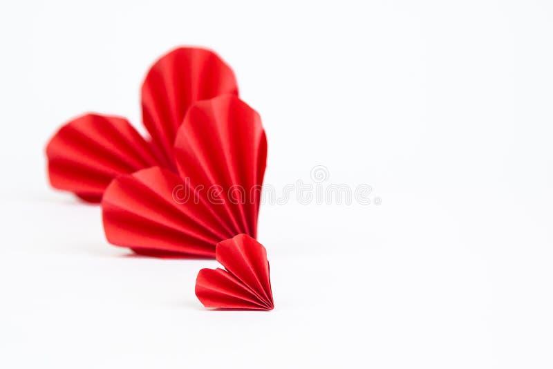 διάνυσμα βαλεντίνων origami απεικόνισης καρδιών καρτών eps10 στοκ φωτογραφίες με δικαίωμα ελεύθερης χρήσης