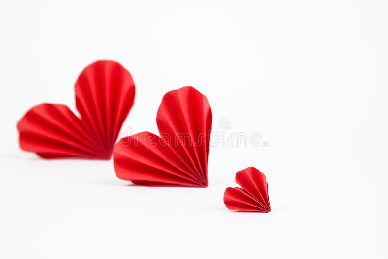 διάνυσμα βαλεντίνων origami απεικόνισης καρδιών καρτών eps10 στοκ φωτογραφίες