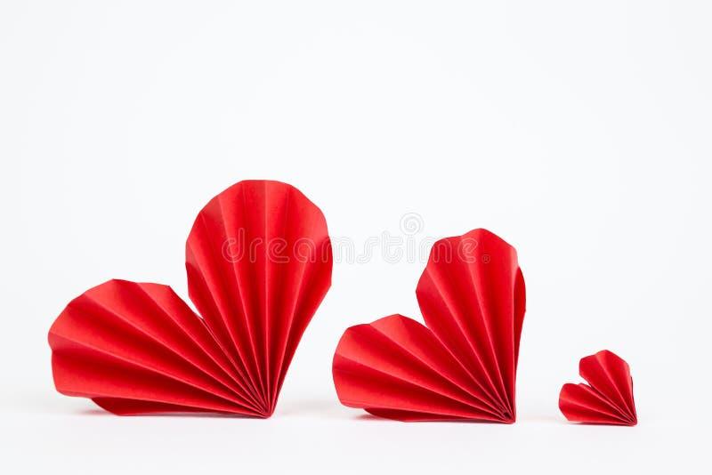 διάνυσμα βαλεντίνων origami απεικόνισης καρδιών καρτών eps10 στοκ φωτογραφία με δικαίωμα ελεύθερης χρήσης