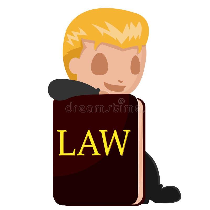 Διάνυσμα βιβλίων κινούμενων σχεδίων δικηγόρων ατόμων εργαζομένων ελεύθερη απεικόνιση δικαιώματος