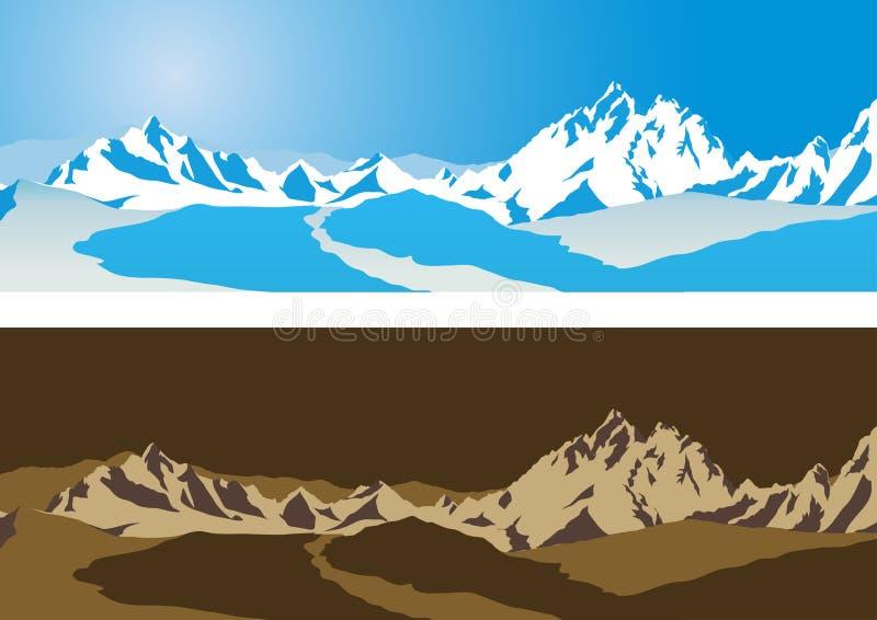 διάνυσμα βουνών ανασκόπησ& απεικόνιση αποθεμάτων