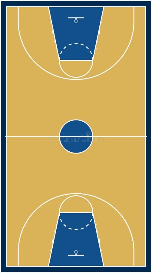 διάνυσμα γήπεδο μπάσκετ διανυσματική απεικόνιση