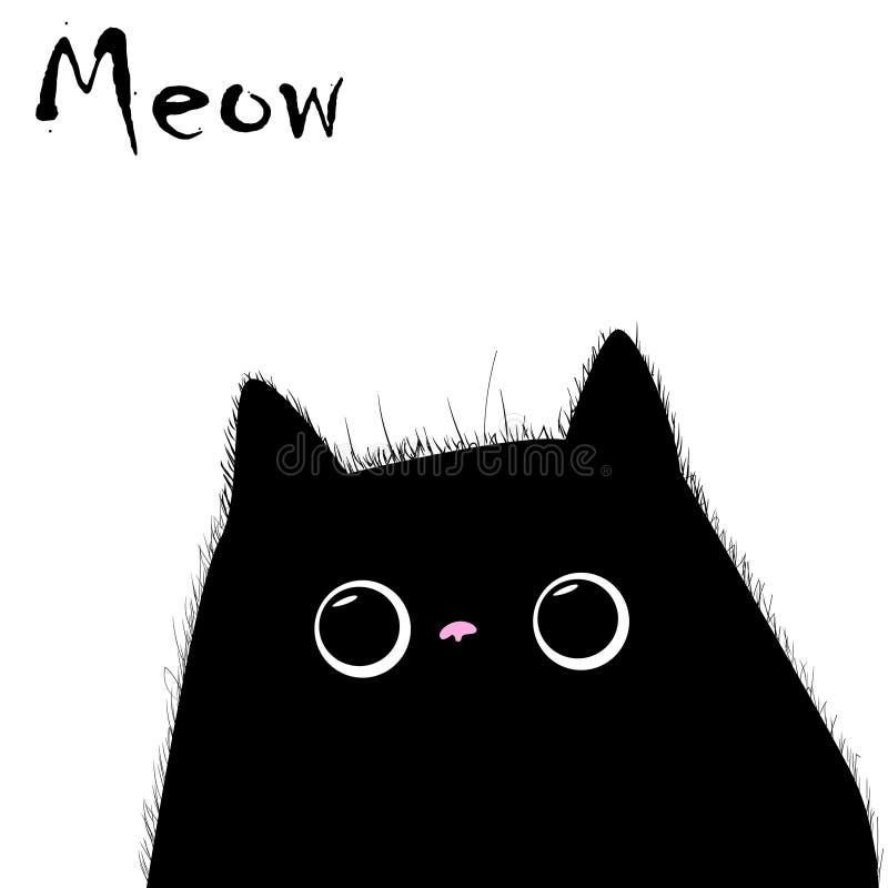 Διάνυσμα γατών, τυπωμένη ύλη μπλουζών, χαρακτήρες κινουμένων σχεδίων, χαριτωμένη γάτα ελεύθερη απεικόνιση δικαιώματος