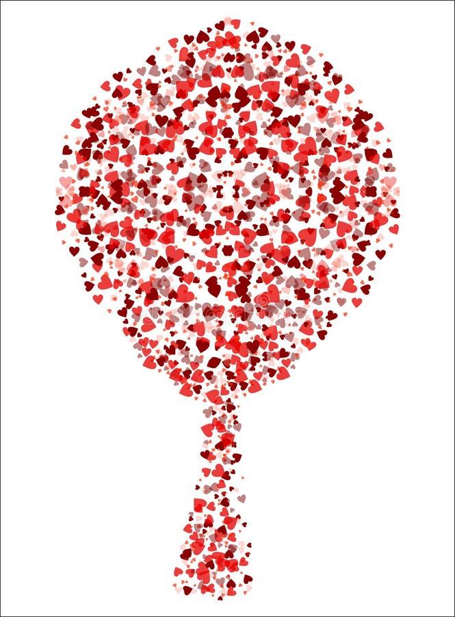 διάνυσμα δέντρων αγάπης διανυσματική απεικόνιση