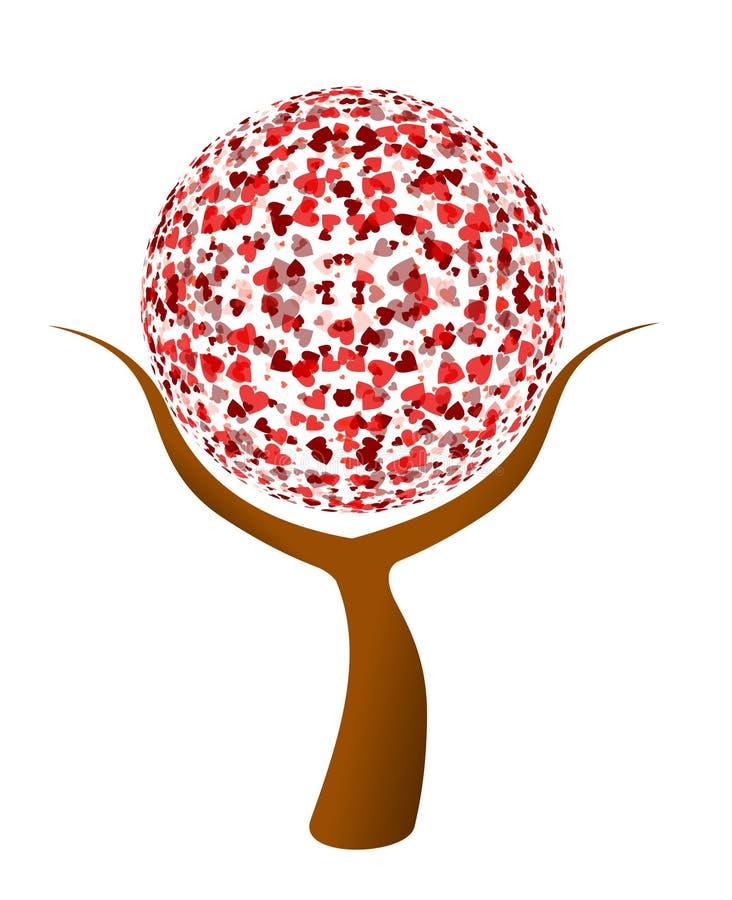 διάνυσμα δέντρων αγάπης απεικόνιση αποθεμάτων