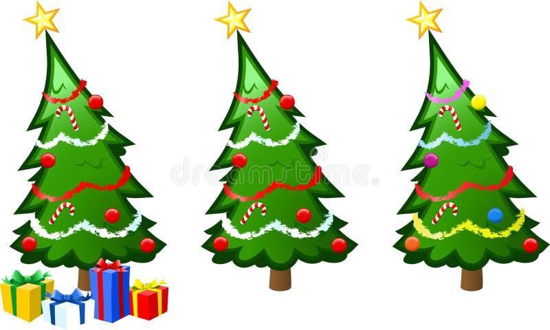 διάνυσμα δέντρων απεικόνισης Χριστουγέννων απεικόνιση αποθεμάτων