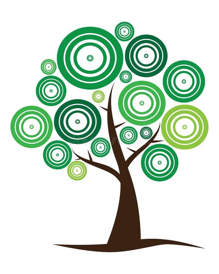 διάνυσμα δέντρων λογότυπων ελεύθερη απεικόνιση δικαιώματος