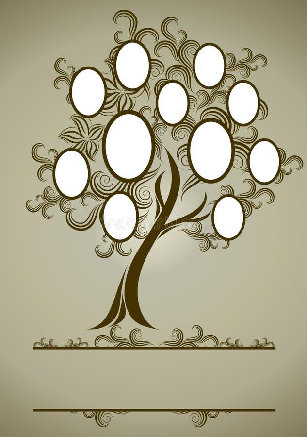 διάνυσμα δέντρων οικογε&nu ελεύθερη απεικόνιση δικαιώματος
