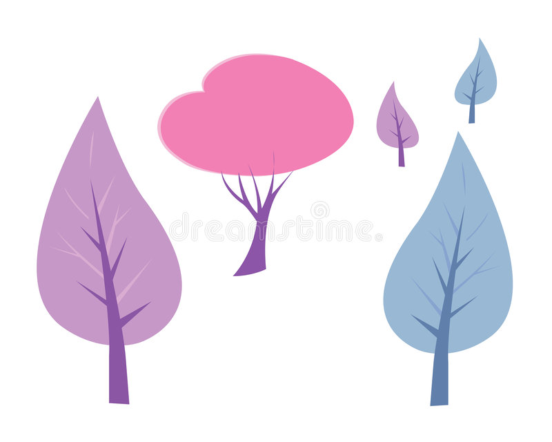 διάνυσμα δέντρων συλλογής ελεύθερη απεικόνιση δικαιώματος