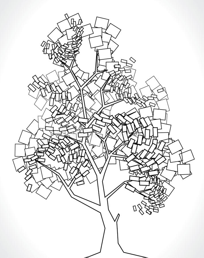 διάνυσμα δέντρων τετραγώνων στοκ φωτογραφία με δικαίωμα ελεύθερης χρήσης