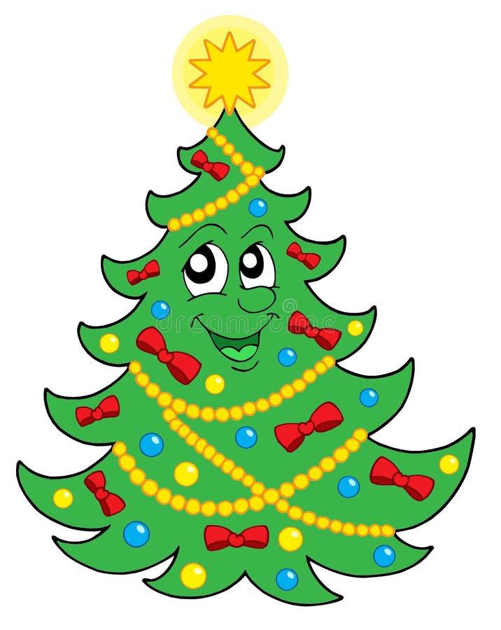 διάνυσμα δέντρων χαμόγελου Χριστουγέννων 2 διανυσματική απεικόνιση