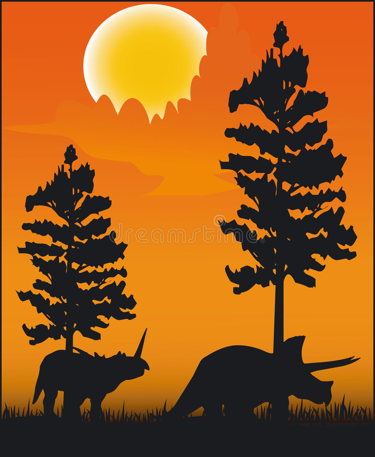 διάνυσμα δεινοσαύρων απεικόνιση αποθεμάτων