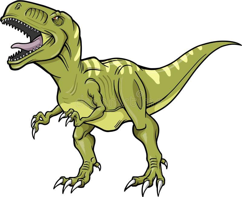 διάνυσμα δεινοσαύρων rex τ διανυσματική απεικόνιση