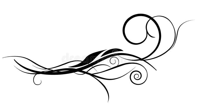 διάνυσμα διακοσμήσεων λουλουδιών σχεδίου διανυσματική απεικόνιση