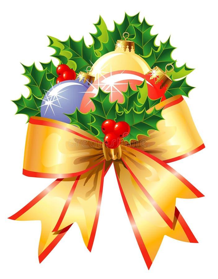 διάνυσμα διακοσμήσεων Χριστουγέννων απεικόνιση αποθεμάτων