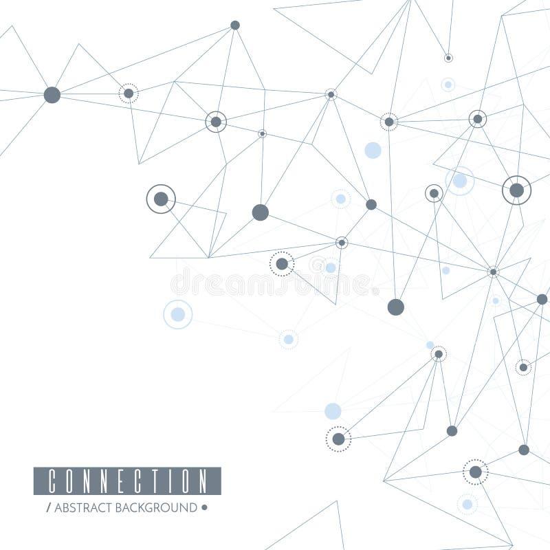 διάνυσμα δικτύων απεικόνισης σχεδίου έννοιας Συνδεδεμένα γραμμές και σημεία διάνυσμα διανυσματική απεικόνιση