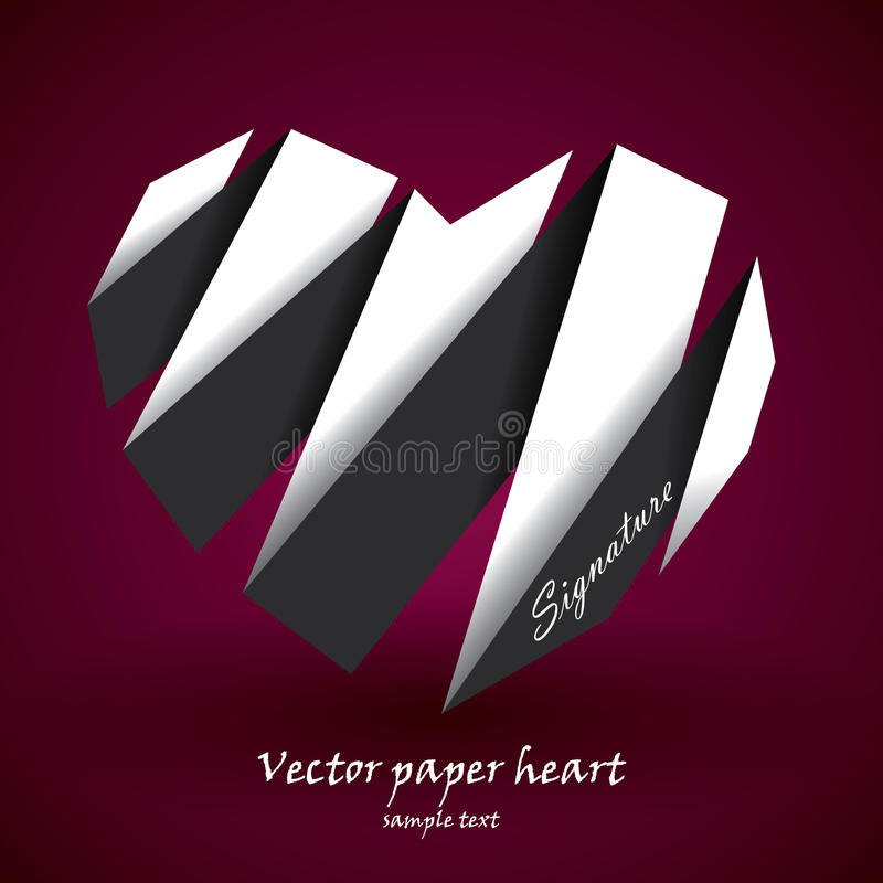 διάνυσμα εγγράφου καρδιών στοκ φωτογραφία με δικαίωμα ελεύθερης χρήσης