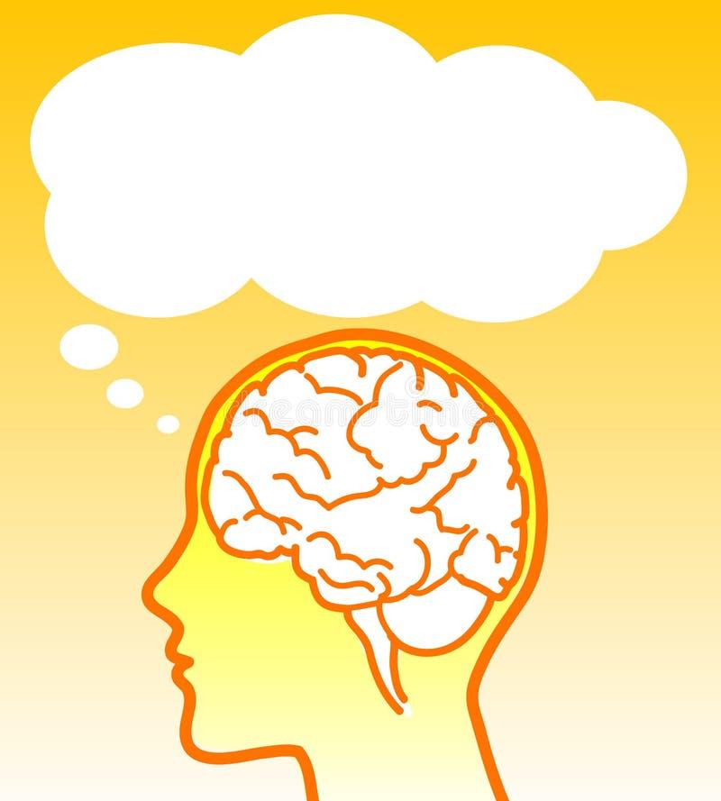 διάνυσμα εγκεφάλου μπα&lam διανυσματική απεικόνιση