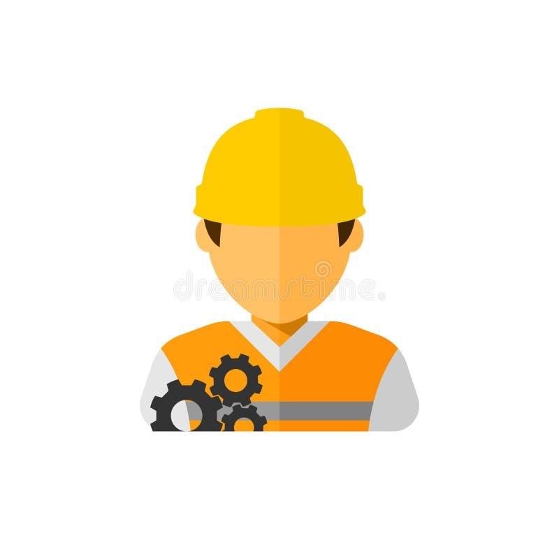 Διάνυσμα ειδώλων εργατών οικοδομών διανυσματική απεικόνιση
