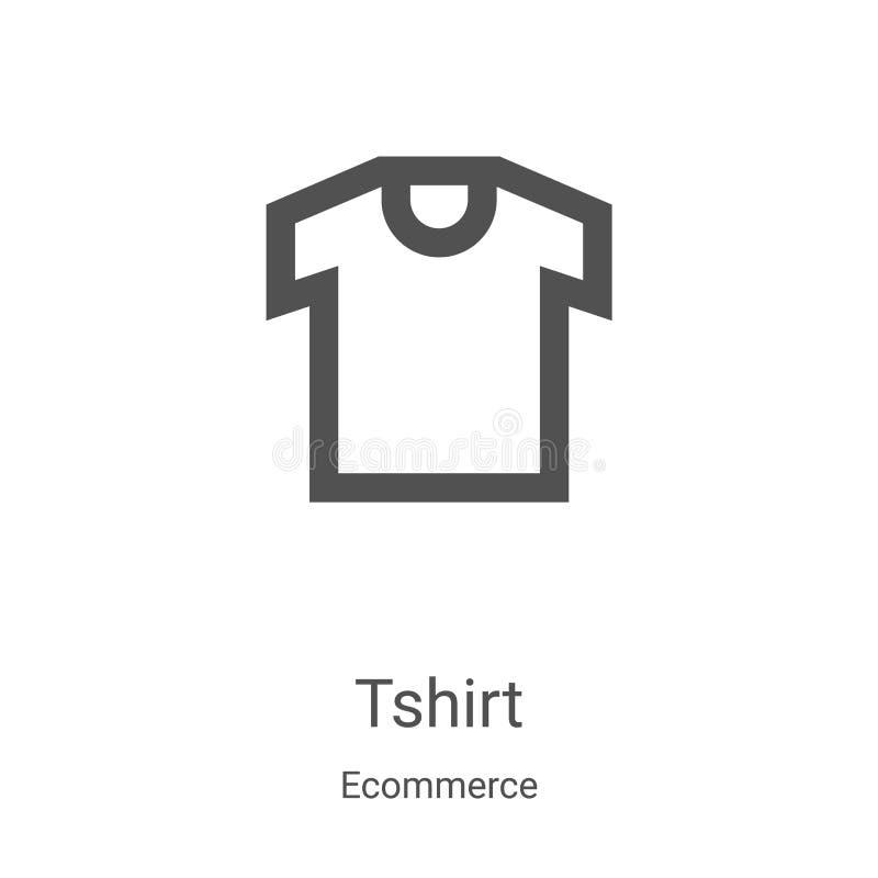 διάνυσμα εικονιδίου tshirt από συλλογή ηλεκτρονικού ταχυδρομείου Εμφάνιση διανυσματικού εικονιδίου περιγράμματος περιγράμματος λε διανυσματική απεικόνιση
