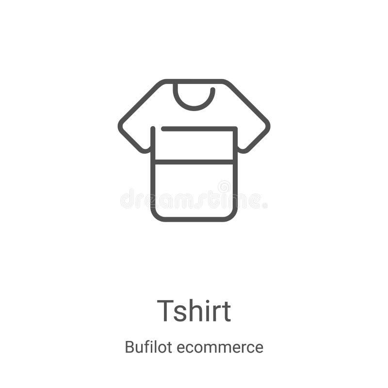 διάνυσμα εικονιδίου tshirt από τη συλλογή ηλεκτρονικού ταχυδρομείου bufilot Εμφάνιση διανυσματικού εικονιδίου περιγράμματος περιγ απεικόνιση αποθεμάτων