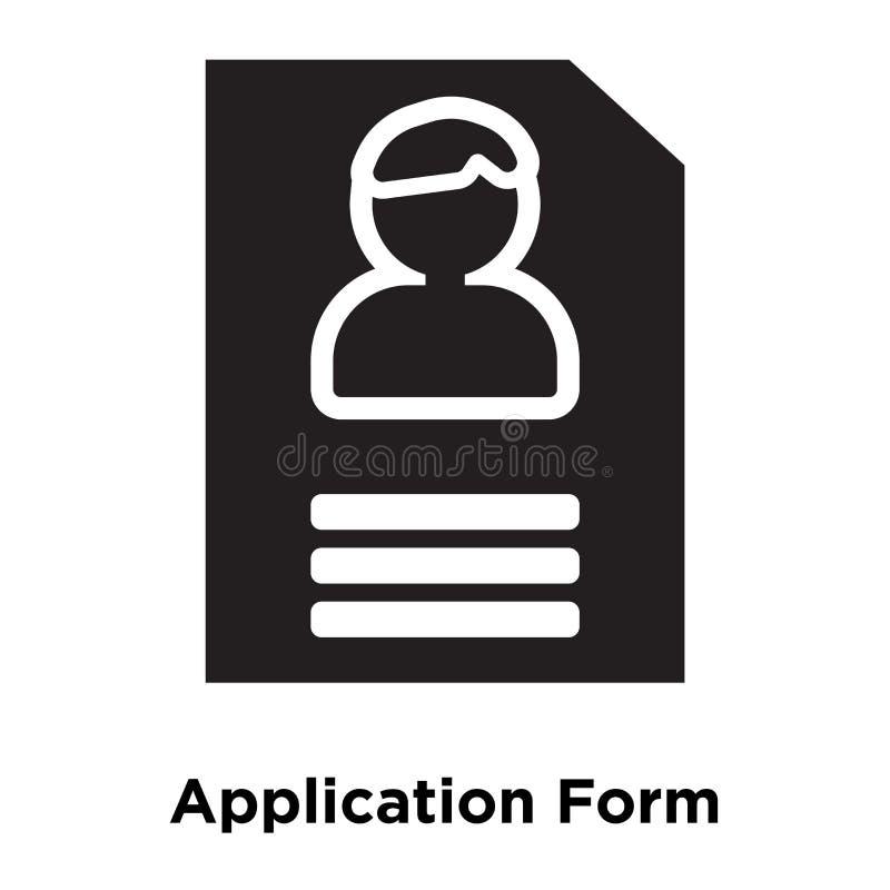 Διάνυσμα εικονιδίων αίτησης υποψηφιότητας που απομονώνεται στο άσπρο υπόβαθρο, λογότυπο ελεύθερη απεικόνιση δικαιώματος