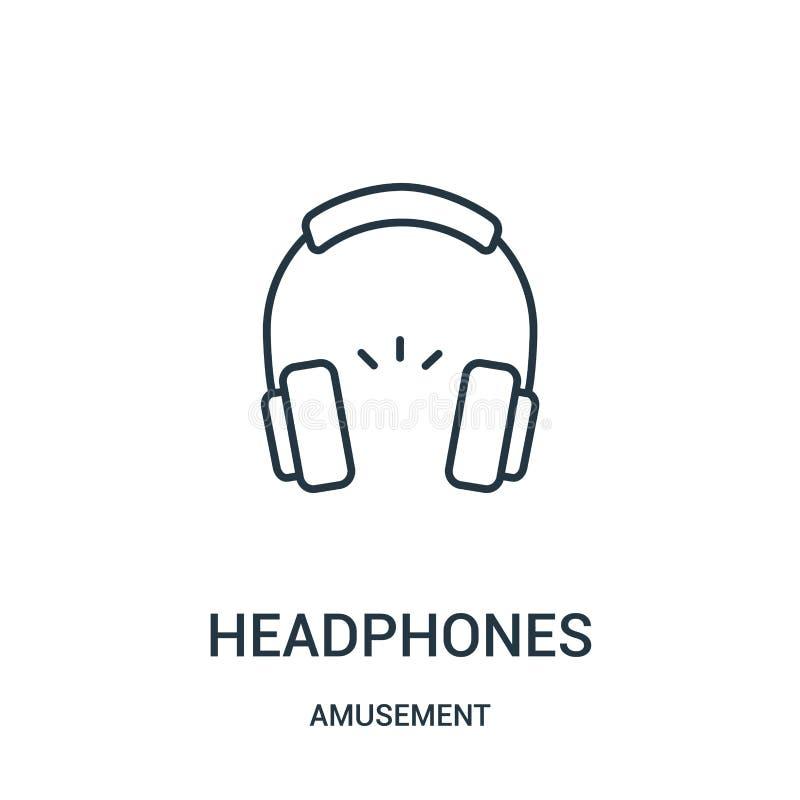 διάνυσμα εικονιδίων ακουστικών από τη συλλογή διασκέδασης Λεπτή διανυσματική απεικόνιση εικονιδίων περιλήψεων ακουστικών γραμμών απεικόνιση αποθεμάτων
