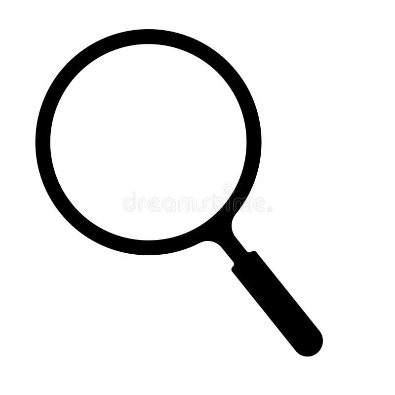 Διάνυσμα εικονιδίων αναζήτησης ενίσχυση - επίπεδο σύμβολο εικονιδίων γυαλιού ελεύθερη απεικόνιση δικαιώματος