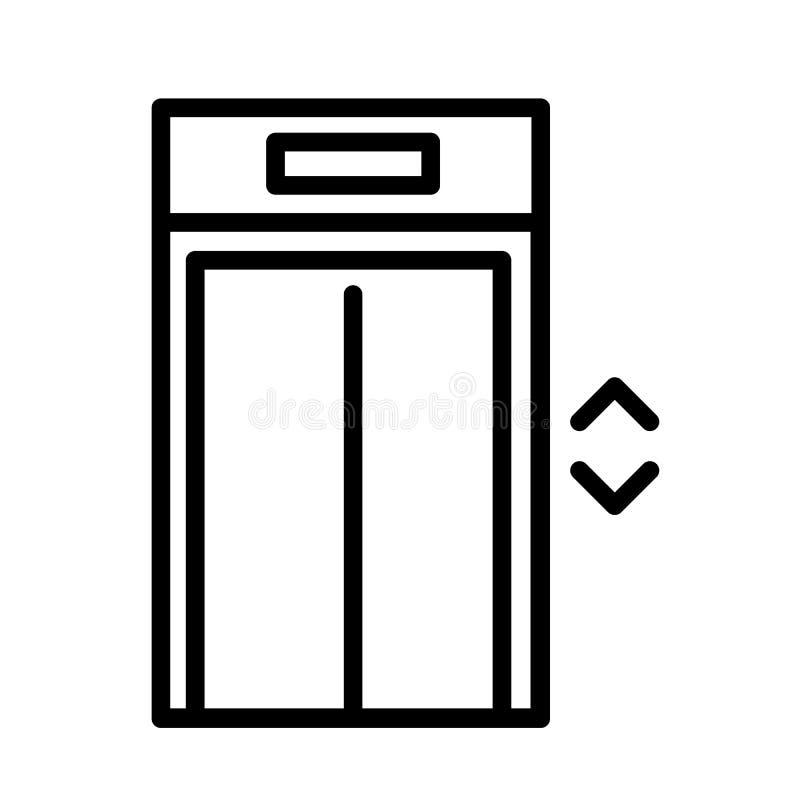 Διάνυσμα εικονιδίων ανελκυστήρων διανυσματική απεικόνιση
