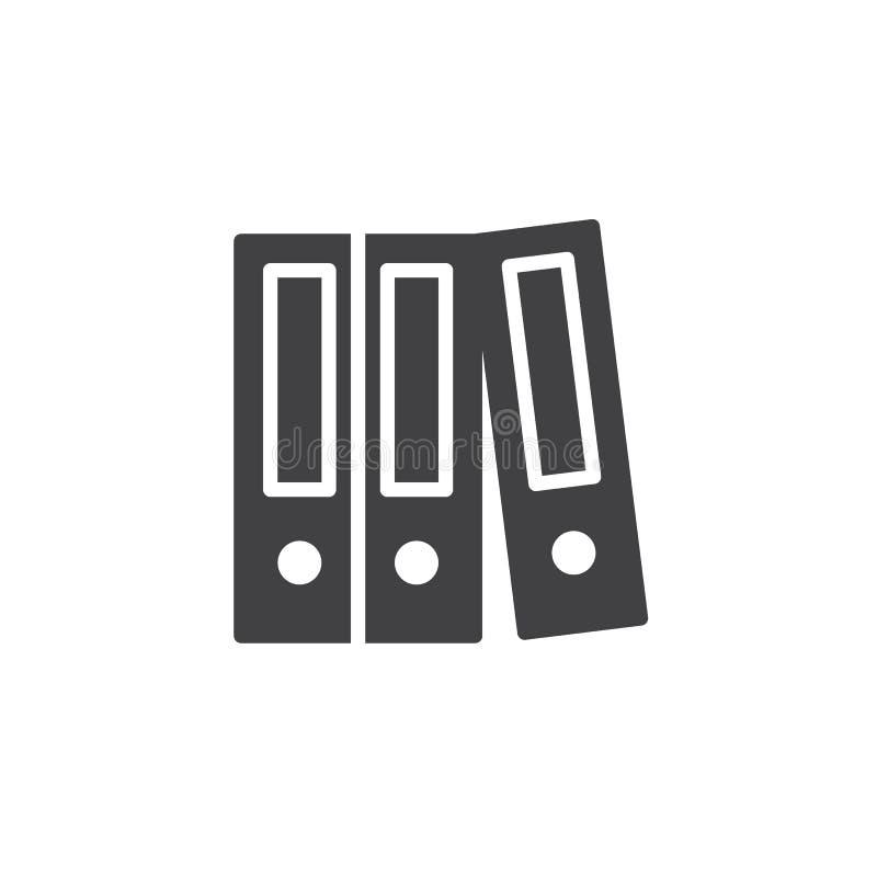 Διάνυσμα εικονιδίων αποθήκευσης στοιχείων γραφείων διανυσματική απεικόνιση