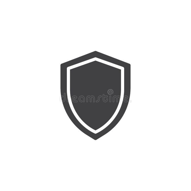 Διάνυσμα εικονιδίων ασπίδων ασφάλειας ελεύθερη απεικόνιση δικαιώματος
