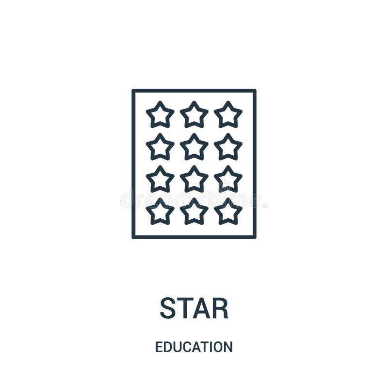 διάνυσμα εικονιδίων αστεριών από τη συλλογή εκπαίδευσης Λεπτή διανυσματική απεικόνιση εικονιδίων περιλήψεων αστεριών γραμμών διανυσματική απεικόνιση