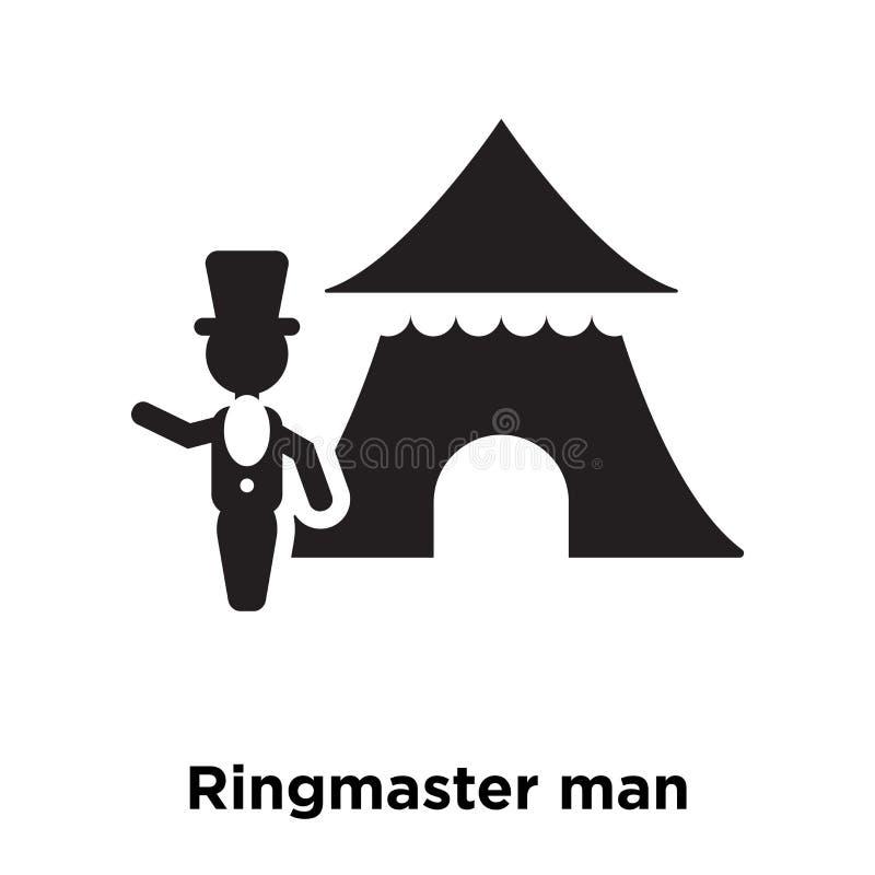 Διάνυσμα εικονιδίων ατόμων παρουσηαστών προγράμματος τσίρκου που απομονώνεται στο άσπρο υπόβαθρο, λογότυπο ομο ελεύθερη απεικόνιση δικαιώματος